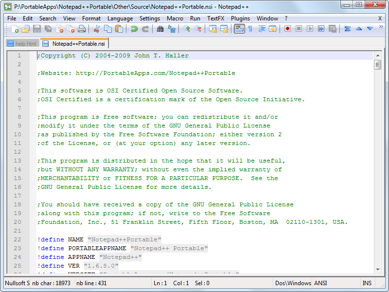 Notepad++ 6.4.5 Free Download Screenshots